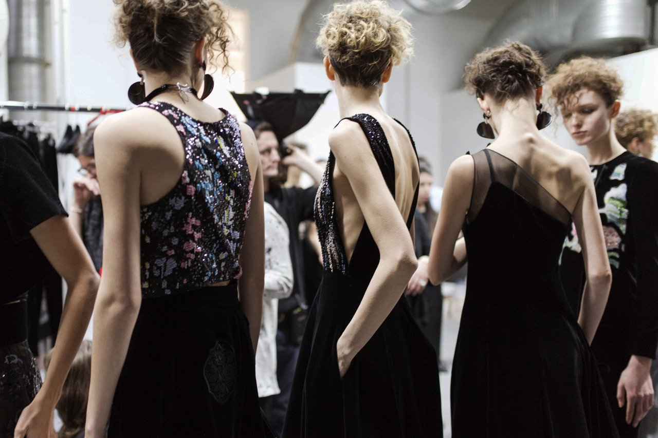 Arms & backs at Giorgio Armani, MFW